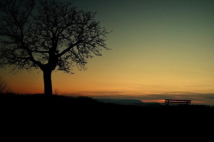 banc coucher de soleil Talant