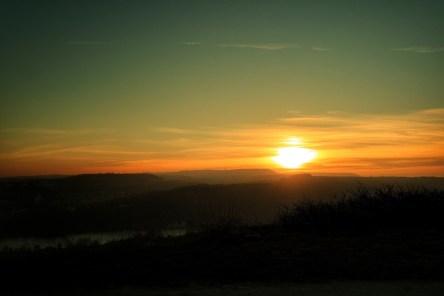 coucher de soleil depuis Plateau de Talant