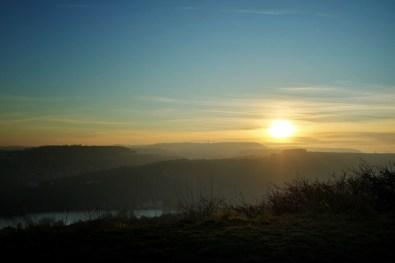 coucher de soleil depuis Talant