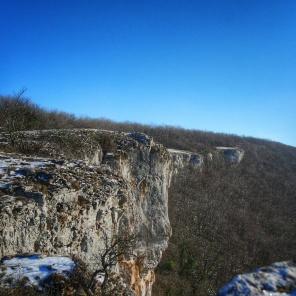 la falaise de Baulme la Roche janvier