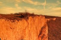 coucher de soleil sur la falaise de Baulme la Roche février