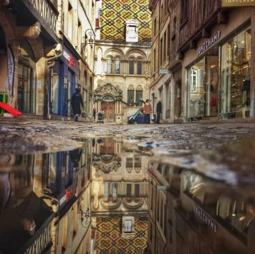Puddle Rue du Bourg Dijon