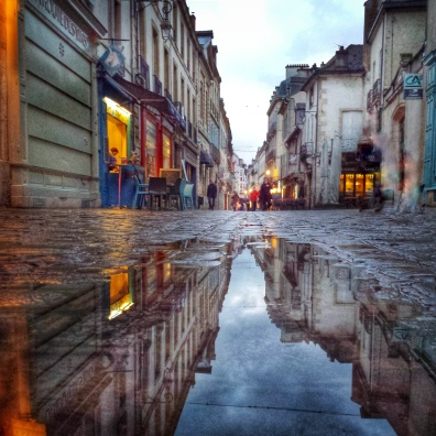 Puddle rue Musette, Dijon
