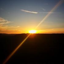 Poésie d'un coucher de soleil Baulme la Roche