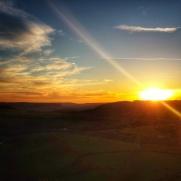 Soleil couchant sur la vallée de l'Auxois