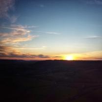 Couleurs pastels du coucher de soleil Baulme la Roche