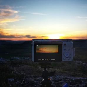 Mise en abîme d'un coucher de soleil Baulme la Roche