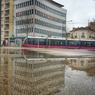 Puddle Tram, place de la République Dijon