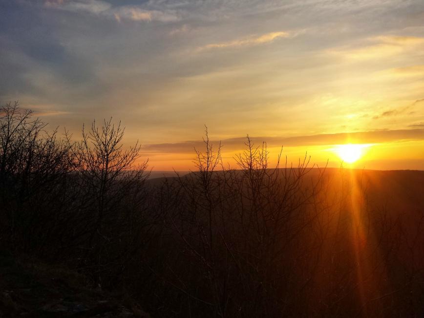 coucher de soleil, Mont Afrique