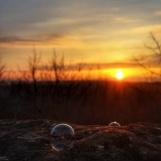 bulles et coucher de soleil, Mont Afrique
