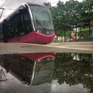 Puddle tram place de la République Dijon