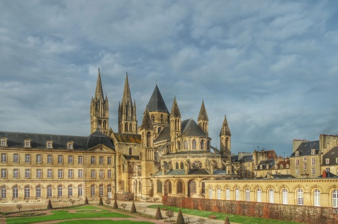 City break en normandie, Abbaye aux Hommes depuis la Grande roue