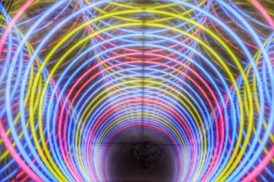 Abbaye aux Hommes intérieur, hotel de ville, Oeuvre de Paolo Scirpa série Ludoscope