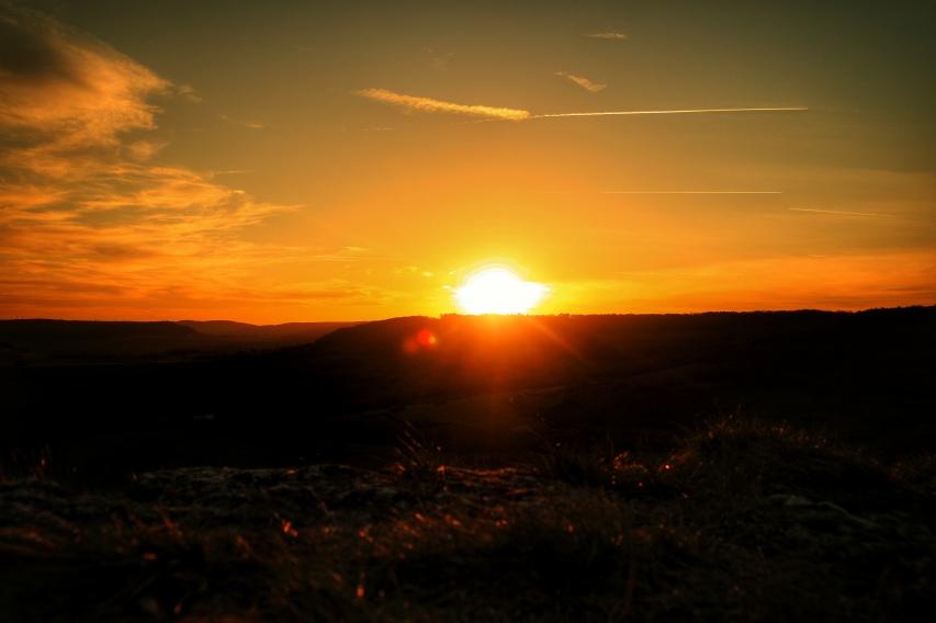 Coucher de soleil Baulme la Roche