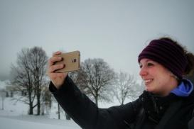 selfie instagrammé le long du sentier les baganiers, Bellefontaine