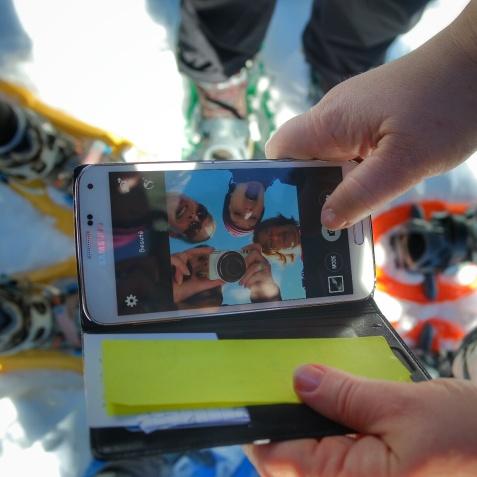 fine équipe selfie mania