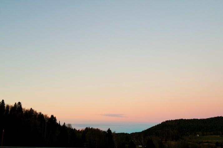 Soleil couchant, Haut Jura