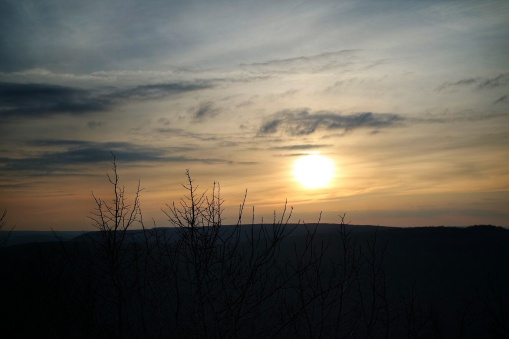 soleil couchant au Mont AFrique