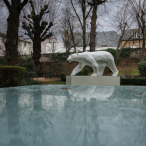 Les jardins de La Cloche Grand Hôtel MGallery Ours marchant R. Orlinski