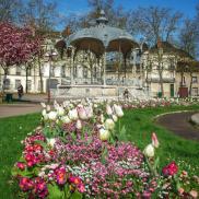 fleurs er kiosque à musique 1912 art nouveau place Wilson Dijon