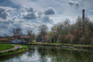 paysage Auxois Canal de Bourgogne entre Montbard et Venarey les Laumes