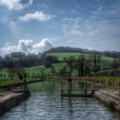 Paysage Auxois Canal de Bourgogne