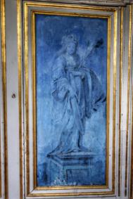 Détail galerie des rois, château Bussy-Rabutin Bourgogne