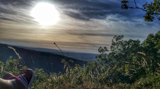 Vue depuis la Roche Percée, Antheuil, vallée de l'Ouche, Bourgogne