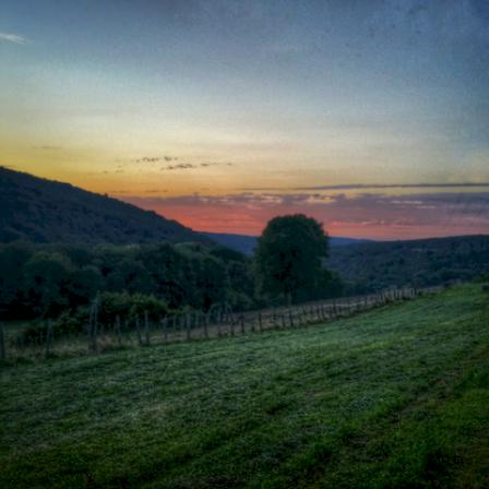Coucher de soleil, Antheuil, Vallée de l'Ouche, Bourgogne