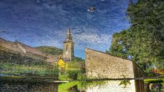 Reflet Eglise Antheuil, Vallée de l'Ouche, Bourgogne