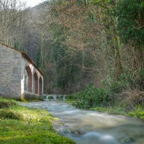 Lavoir au printemps, Antheuil, Vallée de l'Ouche, Bourgogne