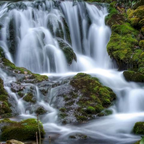 Le Bel Affreux et ses cascades de Tuf, au printemps, Antheuil, Vallée de l'Ouche, Bourgogne