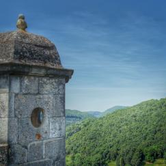 Echauguette sur les chemins de ronde de la Citadelle de Besançon