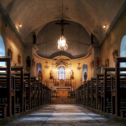 Intérieur Eglise Antheuil, Vallée de l'Ouche, Bourgogne