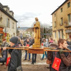 défilé des confréries, saint-Vincent 2017, Mercurey, Bourgogne