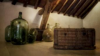 Grenier, la chambre du vigneron, La Maison, Vougeot, Bourgogne, France