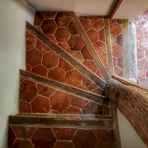 escaliers la chambre du vigneron, La Maison, Vougeot, Bourgogne, France